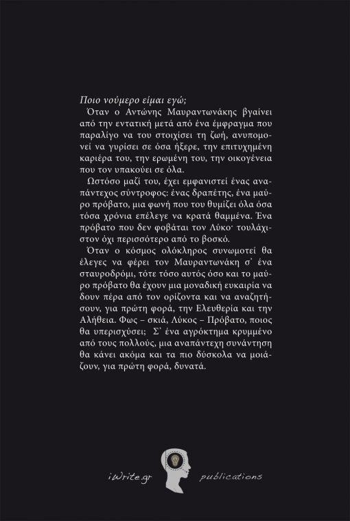 Οπισθόφυλλο, Το Βλέμμα πέρα από τον Ορίζοντα, Εκδόσεις iWrite